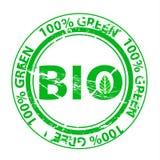 Grunge zieleni znaczek Obraz Royalty Free