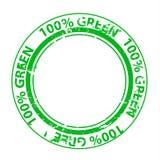 Grunge zieleni znaczek Fotografia Stock