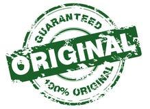 grunge zielony znaczek Zdjęcie Stock