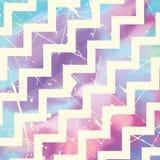 Zig zag pattern on watercolour. Grunge zig zag pattern on a watercolour texture Stock Photos