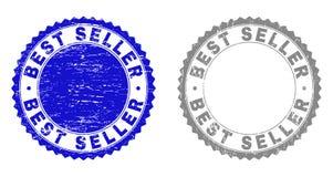 Grunge znaczka bestseller Drapać foki royalty ilustracja