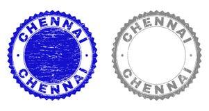 Grunge znaczka CHENNAI Textured foki ilustracji