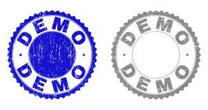 Grunge znaczka demonstracje Drapać foki ilustracja wektor
