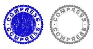 Grunge znaczka kompres Drapać foki ilustracji