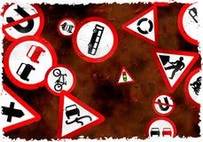 grunge znaków Fotografia Royalty Free