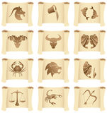 Grunge Zodiac Star Signs Stock Photos
