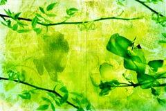 Grunge Zweig-Hintergrundseite stock abbildung