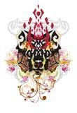 Grunge zwierzęcia plemienna imaginacyjna głowa Fotografia Royalty Free