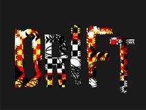 Grungeafwijking het Van letters voorzien vector illustratie