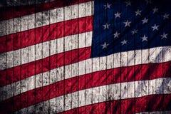 Grungeamerikanska flaggan Royaltyfri Foto