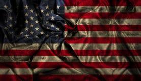 Grungeamerikanska flagganbakgrund Royaltyfri Bild