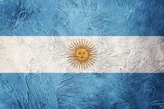 GrungeArgentina flagga Argentina flagga med grungetextur Arkivfoto