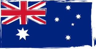 GrungeAustralien flagga Royaltyfria Bilder