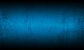 Grungebakgrund för blå svart arkivfoton