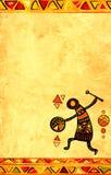 Grungebakgrund med afrikanska etniska modeller Arkivbild