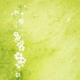 Grungebakgrund med blommor Royaltyfria Foton