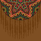 Grungebakgrund med den stam- beståndsdelen för prydnadhalvarunda Royaltyfri Bild