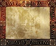 Grungebakgrund med etniska modeller för indian Arkivbild