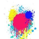 Grungebakgrund med fläckar av målarfärg Royaltyfria Bilder