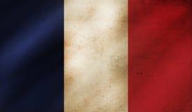 Grungebakgrund med flaggan av Frankrike royaltyfri illustrationer