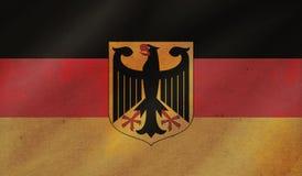 Grungebakgrund med flaggan av Tyskland royaltyfri illustrationer