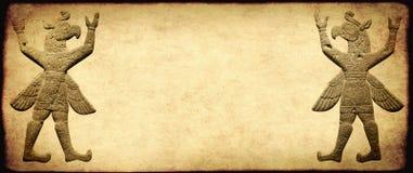 Grungebakgrund med papperstextur och grip-krigare royaltyfri foto