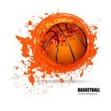 Grungebal van basketbal Stock Foto's