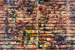 Grungebambustänger texturerar med färger stänker för abstrakt bakgrund arkivbilder