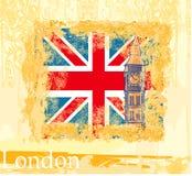 Grungebanner met Londen Stock Fotografie