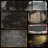 Grungebanners en Achtergronden Royalty-vrije Stock Afbeeldingen