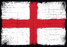 Grungebeståndsdelar med flaggan av England Fotografering för Bildbyråer