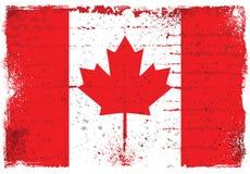 Grungebeståndsdelar med flaggan av Kanada Fotografering för Bildbyråer