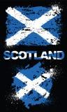 Grungebeståndsdelar med flaggan av Skottland Fotografering för Bildbyråer