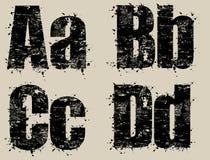 grungebokstäver Arkivfoto