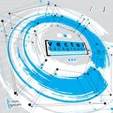 Grungeborstels en technische vectorachtergrond Stock Foto's