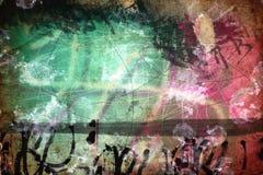 Grungecollage, vattenfärgstil Royaltyfri Fotografi