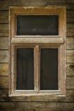 grunged окно деревянное Стоковая Фотография
