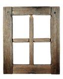 grunged старое очень окно деревянное Стоковое Изображение RF