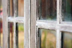 grunged старое очень окно деревянное Стоковая Фотография