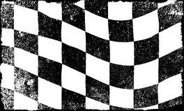Grunged Chequered Flag. A grunge chequered race event flag in black and white Royalty Free Stock Image