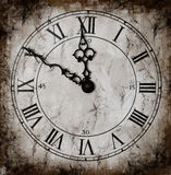 Grunged Clock Royalty Free Stock Photography