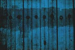 Grunged fence. Blue grunge fence royalty free stock photos