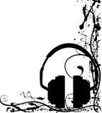 Grunged headphones Royalty Free Stock Photo
