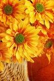 Grunged Herbst-Blumenstrauß Stockbilder