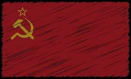 Soviet Flag Scribble Grunge. A grunged soviet flag design background Royalty Free Stock Photo