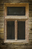Grunged wooden window Stock Photography