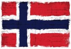 Grungeelementen met vlag van Noorwegen Stock Foto