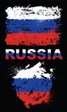 Grungeelementen met vlag van Rusland Stock Afbeelding