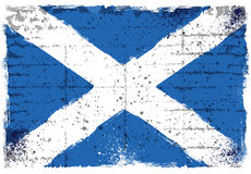 Grungeelementen met vlag van Schotland Stock Fotografie