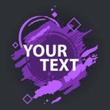 Grungefärgstänkbaner Kan användas som en vykort Färgstänkbaner Vektorn plaskar etiketter med utrymme för text Arkivbilder